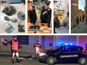 Droga, quattro arresti dei carabinieri per detenzione ai fini di spaccio di sostanze stupefacenti tra Crotone e Belvedere Spinello